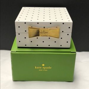 NWT Kate Spade Jewelry Box polka dot